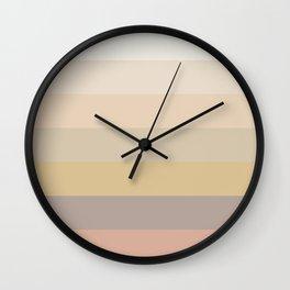 Dusty Rainbow Pattern Wall Clock