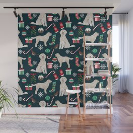 Golden Doodle unique christmas gifts for dog person dog breed pet portraits by pet friendly Wall Mural