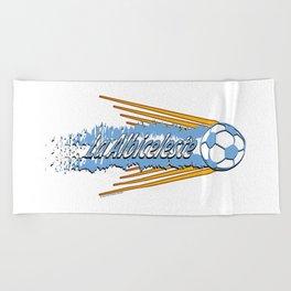 Argentina La Albiceleste(The White and Sky-Blue) ~Group D~ Beach Towel