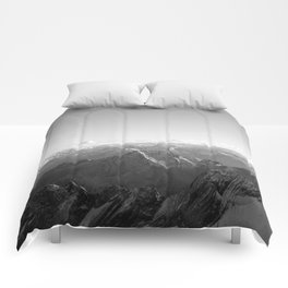Mountain Alps Black and White Photography Europe Comforters