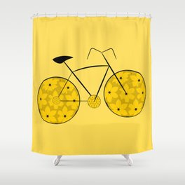 Floral ride Shower Curtain