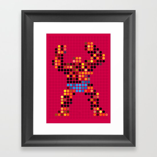 Mr Something Framed Art Print