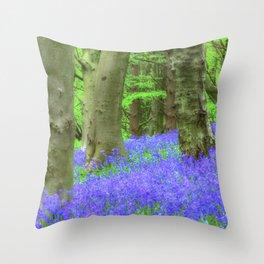 Bluebell Woods, The Wenallt #2 Throw Pillow