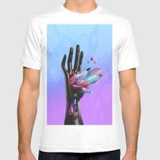 Mystic SMALL White Mens Fitted Tee