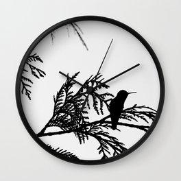 the thoughtful hummingbird Wall Clock