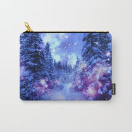 Mystical Snow Winter Forest Carry-All Pouch