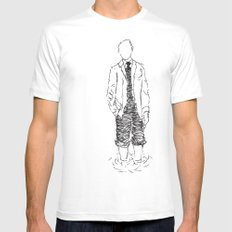 Standing is Fun Mens Fitted Tee White MEDIUM