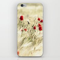 poem iPhone & iPod Skins featuring A POPPY  POEM by Stephanie Koehl