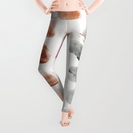 16     Abstract Patterns Watercolor Painting   200615 Leggings