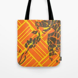 Screenprinted Giraffe Tote Bag