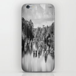 Dead Lakes Florida Black and White iPhone Skin