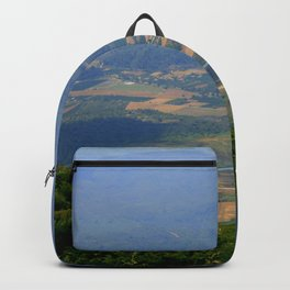 River, Tree and Mountain Landscape Backpack