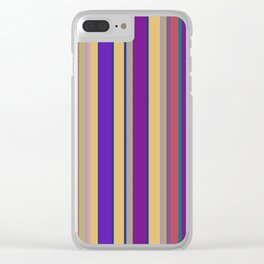 awning stripe Clear iPhone Case
