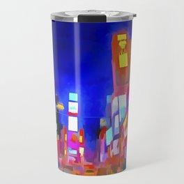 Times Square New York Pop Art Travel Mug