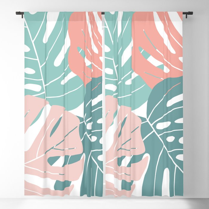 Monstera leaves Blackout Curtain