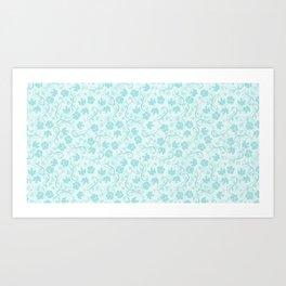 small floral pattern Art Print