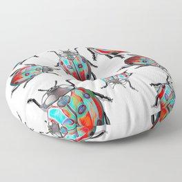 Flash Blue Lady Birds Floor Pillow