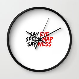 Eye Map Ness Wall Clock