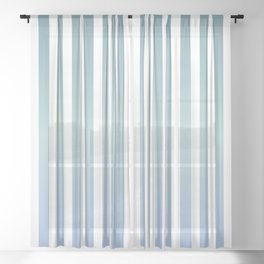 Mindful pinstripes Sheer Curtain