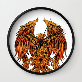 Phoenix Mythical  Long  Live Secular Vibrant Gift  Wall Clock