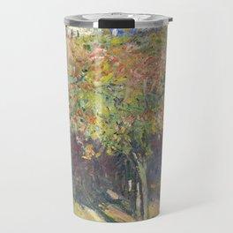 Les Tilleuls à Poissy by Claude Monet Travel Mug