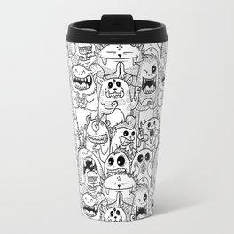 Monsters Pattern Travel Mug