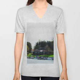 Lake Lure. Lets Get Away Unisex V-Neck