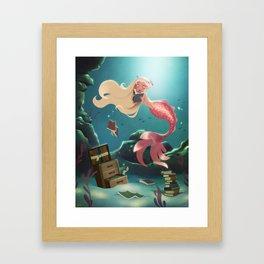 Sunken Library Framed Art Print