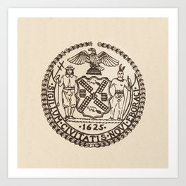 Seal of the City of New York Art Print