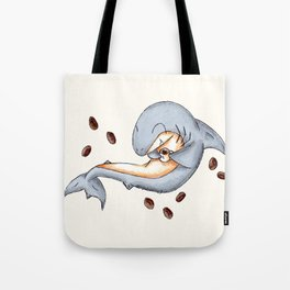 Coffee Shark Tote Bag