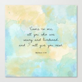 Matthew 11:28 Canvas Print