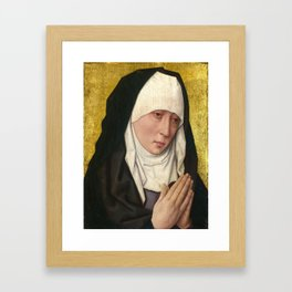Mater Dolorosa 15th Century Painting Framed Art Print