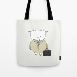 Businessman Goat - Greatest Of All Time Tote Bag