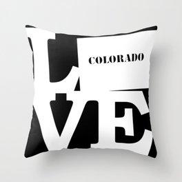 Colorado Pride USA State Love Map Throw Pillow
