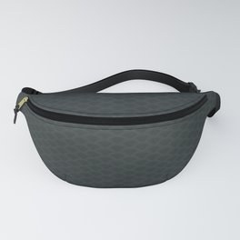 PPG Night Watch Pewter Green Stitch Scallop, Wave Pattern Fanny Pack