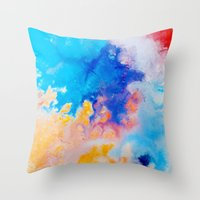 Bursting Throw Pillow