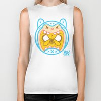 finn and jake Biker Tanks featuring Finn & Jake by Miguel Manrique