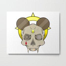 Holy vampire mouse skull Metal Print