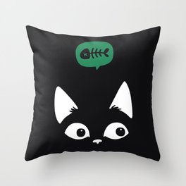 i am out of fish ... Throw Pillow