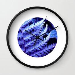 blue fern macro XXIV Wall Clock