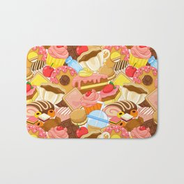 Wall of Cakes Bath Mat