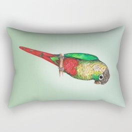 Conure with a heart on its belly Rectangular Pillow