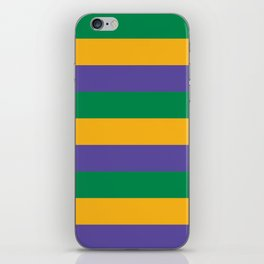 Mardi Gras Rugby Stripe iPhone Skin