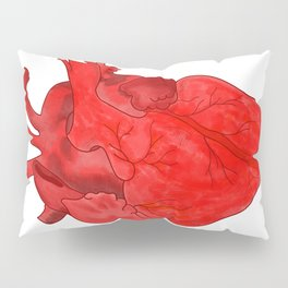 Passion red heart Pillow Sham