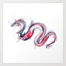 Koi Dragon Art Print
