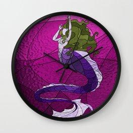 Primeval Mermaid (pink) Wall Clock
