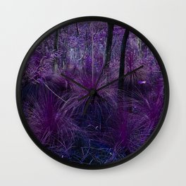 Conway National Park in Purple Wall Clock