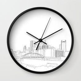 Pittsburgh Doodle Wall Clock