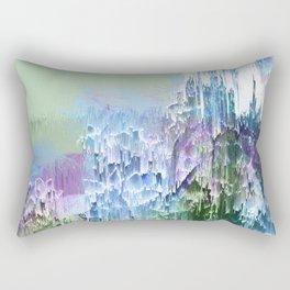 Wild Nature Glitch - Blue, Green, Ultra Violet #nature #homedecor Rectangular Pillow
