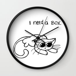 i need a box.  Wall Clock